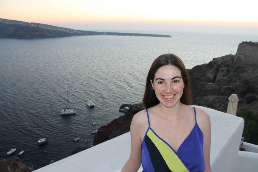 Adrienne in Santorini