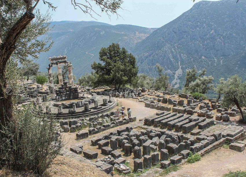 Tholos at the Sanctuary of Athenia Pronaia, Delphi, Greece