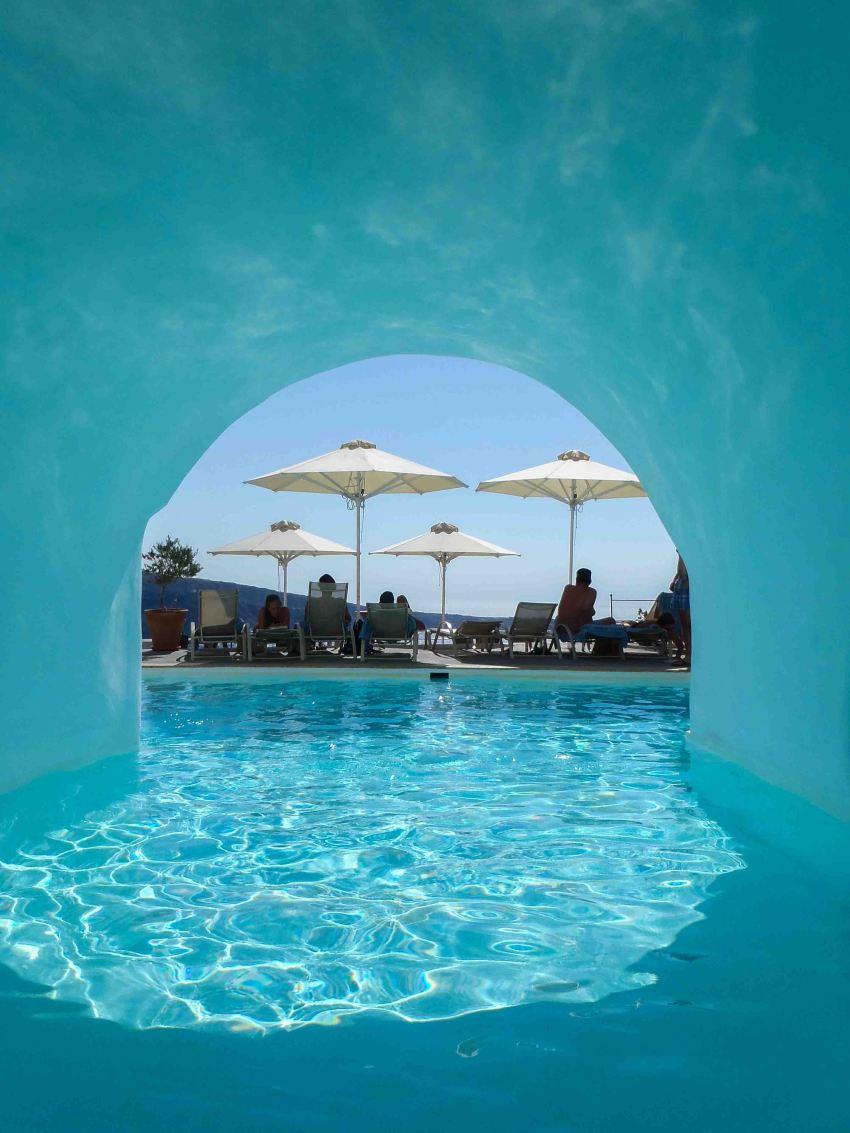 Cave pool, Esperas Hotel, Oia, Santorini, Greece