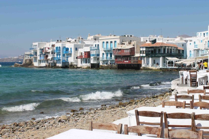 Little Venice, Mykonos Town (Chora), Mykonos, Greece