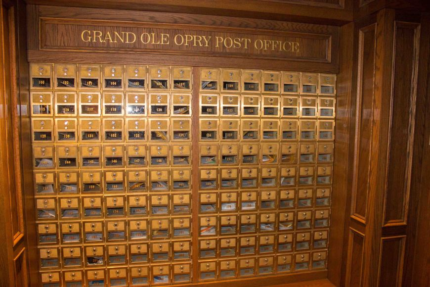 Artist mailboxes, Grand Ole Opry, Nashville, Tennessee