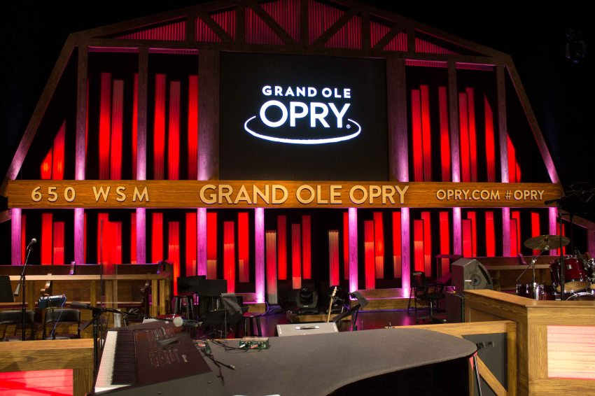 Grand Ole Opry stage, Nashville, Tennessee