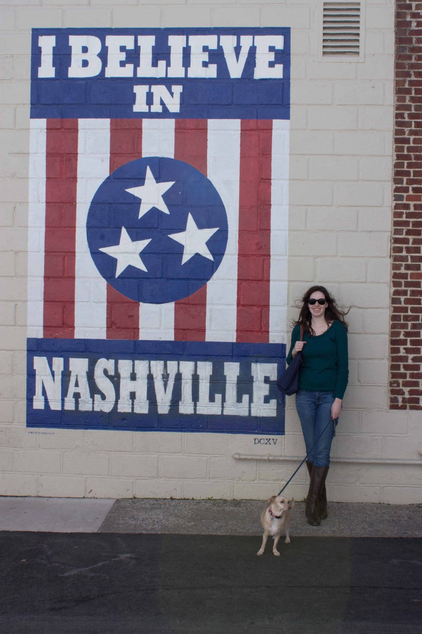 """I believe in Nashville"" mural, 12 South neighborhood, Nashville, Tennessee"