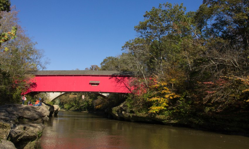 Covered bridge over Sugar Creek